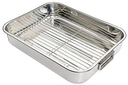 Kitchen Craft - Fuente de Horno Rectangular con Rejilla (Acero ...