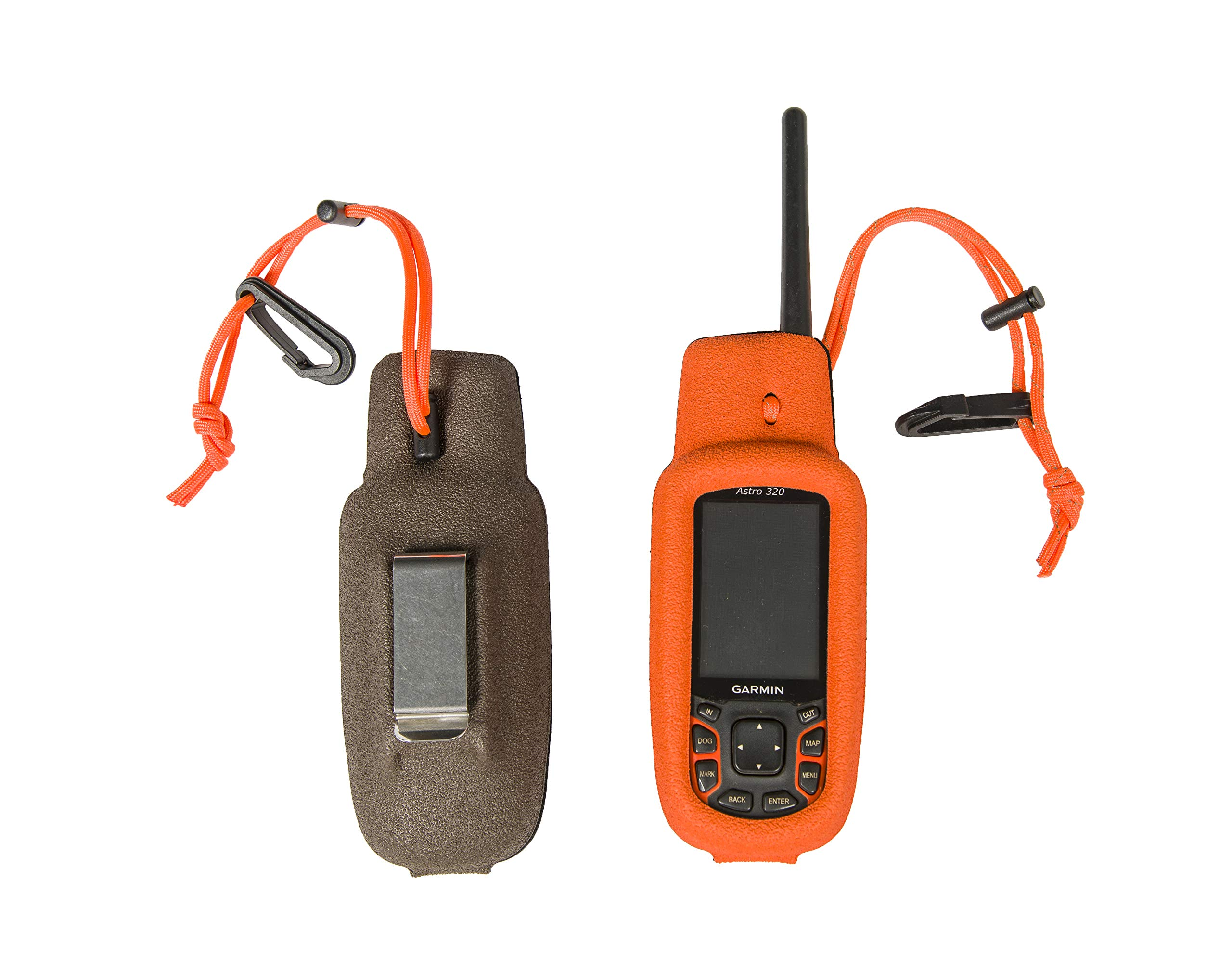 Gizzmo Vest for Garmin Alpha 100, Astro 430 or 320 Handheld - Made in The USA (Alpha 100, Orange Dots Texture) by GizzMoVest, LLC