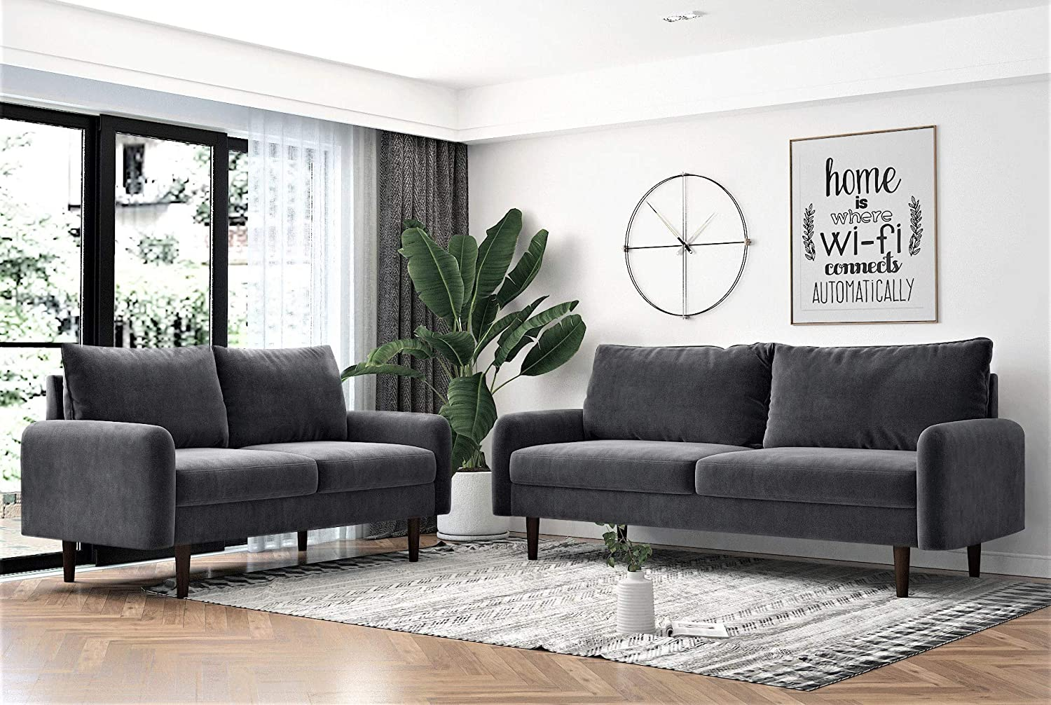 US Pride Furniture Sectional, Grey