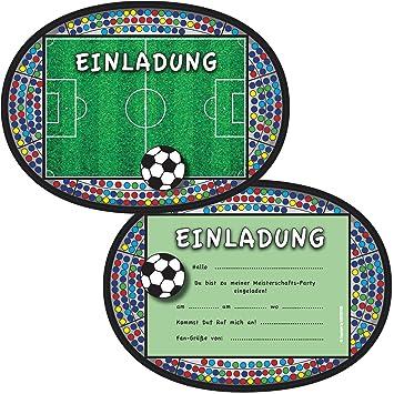 6 tarjetas de invitación * Balones de Fútbol * DE FIESTA de ...