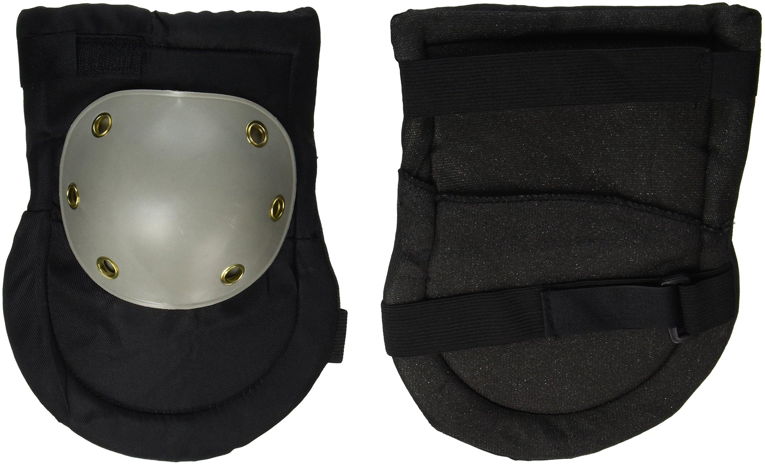 SE GP322KPB Knee Pads with Plastic Caps, Black and Grey (2 PC.)