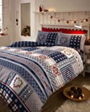 Nordic - Multi - Flannelette Duvet Cover Set - Single