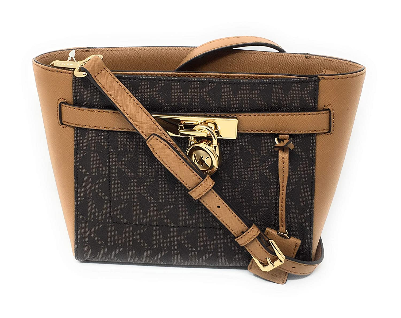 5d0c5af0dc96 MICHAEL Michael Kors Hamilton Traveler Top Zip Small Crossbody Brown Acorn:  Handbags: Amazon.com