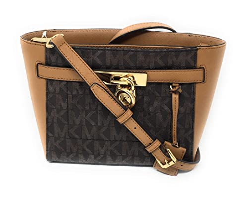 40c1e8904be2 Image Unavailable. Image not available for. Color: MICHAEL Michael Kors  Hamilton Traveler Top Zip Small Crossbody Brown Acorn