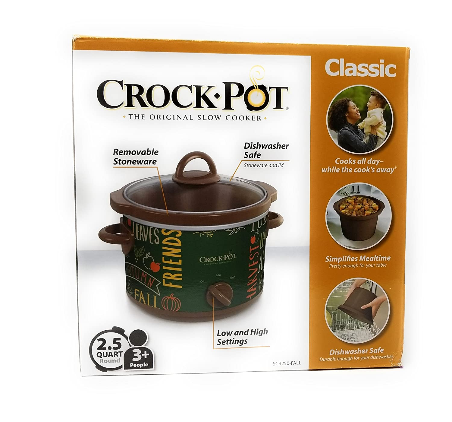 Limited Edition Classic Crock Pot Slow Cooker 2.5 Quart (Fall Green)