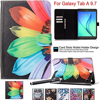 Amazon.com: Galaxy Tab A 9.7 Funda, Newshine con tapa Smart ...