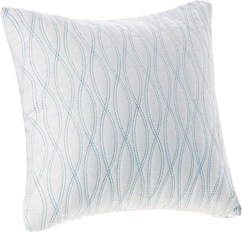Harbor House Coastline 18 by 18-Inch Polyester Fill Pillow
