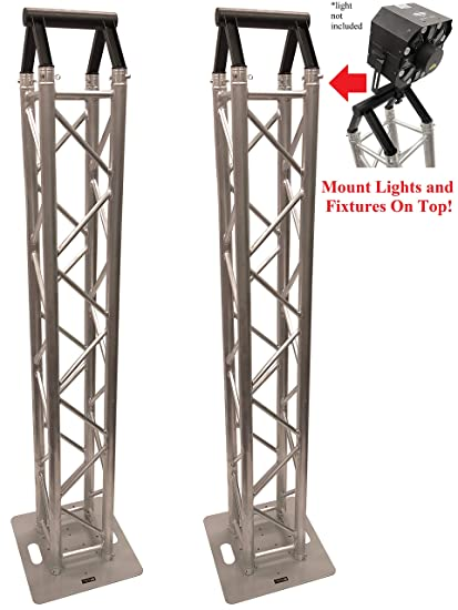 Amazon com: (2) DJ Lighting Aluminum Truss Light Weight Dual