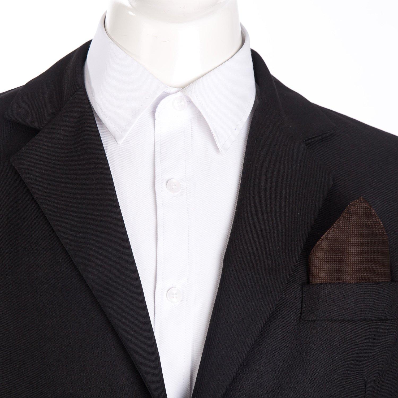 DonDon fazzoletto da taschino 21 x 21 cm per uomo adatto ad occasioni cerimoniali in colori diversi