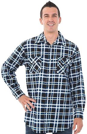 c30893dfb563 Alexander Del Rossa Mens Flannel Shirt