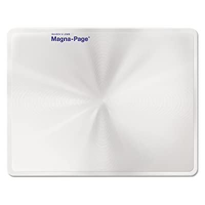 Bausch & Lomb 819007 2X Magna-Page Full-Page Magnifier w/Molded Fresnel Lens, 8 1/4-Inch x 10 3/4-Inch: Toys & Games