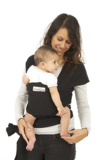 c145172a318 Amazon.com   Innoo Tech Original Baby Wrap Carrier - Soft Stretch Natural  Cotton Sling for Babies (Black)   Baby