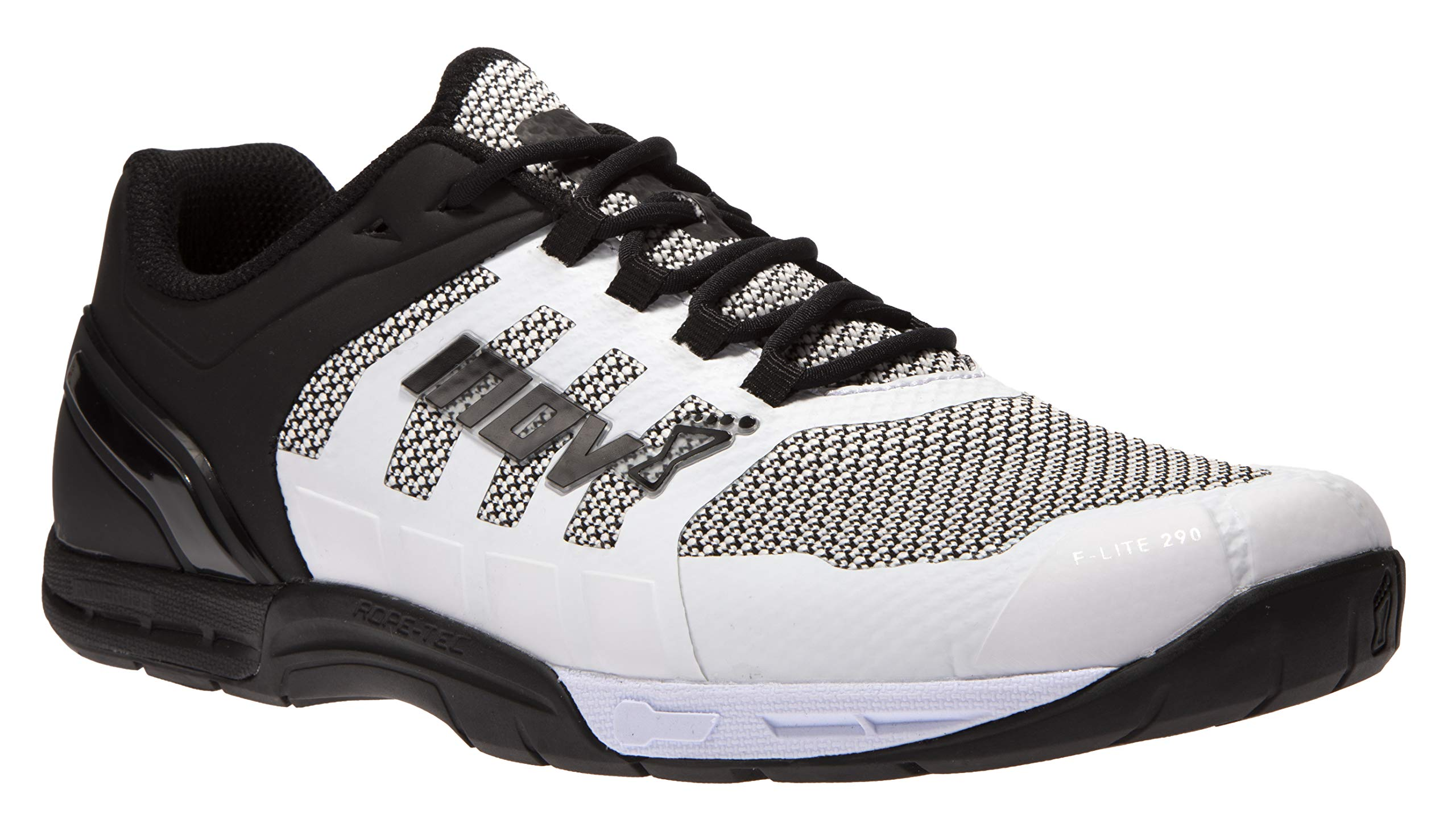 Inov-8 Mens F-Lite 290 Knit - Ultimate Power Training Shoes - Super Breathable Knitted Upper - White/Black 8.5 M US by Inov-8