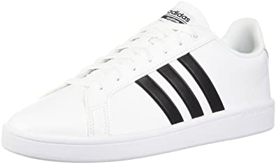 adidas Originals Women's Shoes | Cloudfoam Advantage Sneakers,  White/Black/White, (
