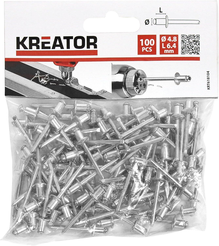 Remaches 3,2x6,4mm 100 piezas KREATOR KRT618102