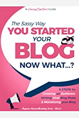 You Started a Blog - Now What....?: 6 Steps to Growing an Audience, Writing Viral Blog Posts & Monetizing your Blog (Beginner Internet Marketing Series Book 2) Kindle Edition