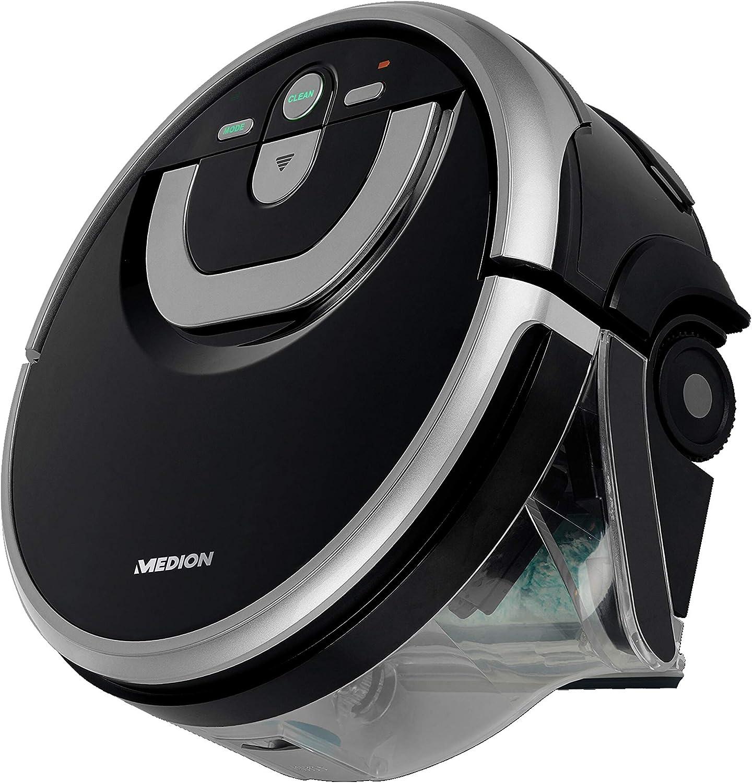 MEDION Robot de aspiración con navegación inteligente, tiempo de ...