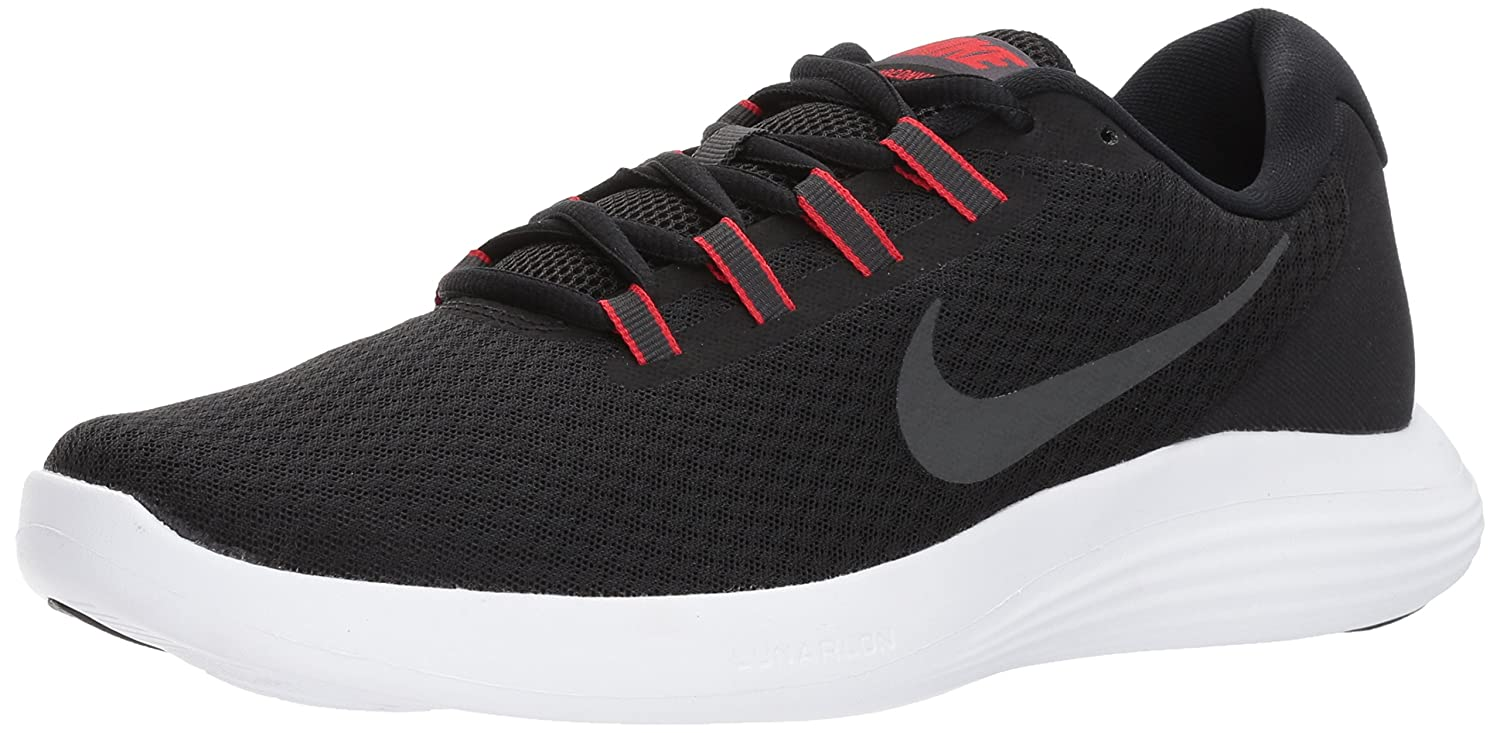 NIKE Men s Lunarconverge Running Shoes Black/Anthracite/University Red/White 11 D US