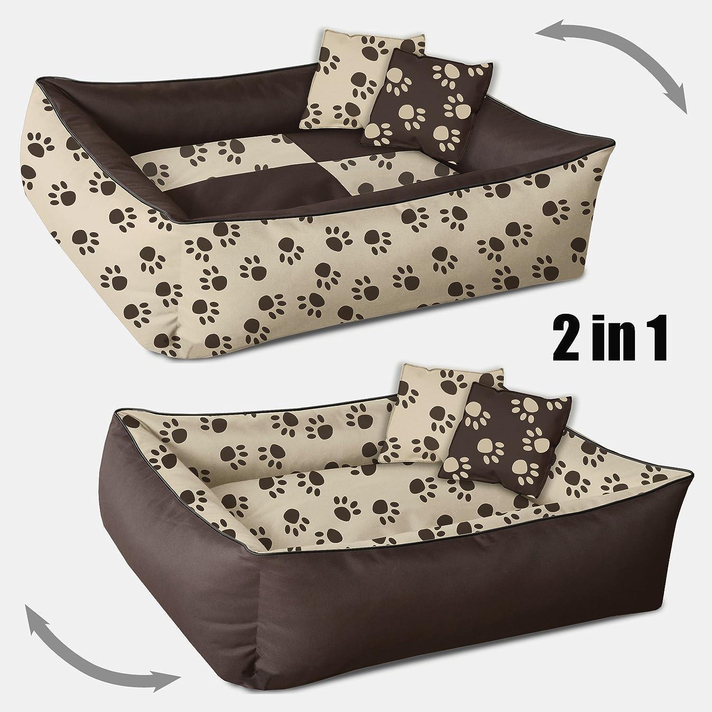 BedDog 2 en 1 colchón para Perro MAX Quattro XXL Aprox. 120x85 cm, 8 Colores, Cama para Perro, sofá para Perro, Cesta para Perro, Marron/Beige: Amazon.es: ...