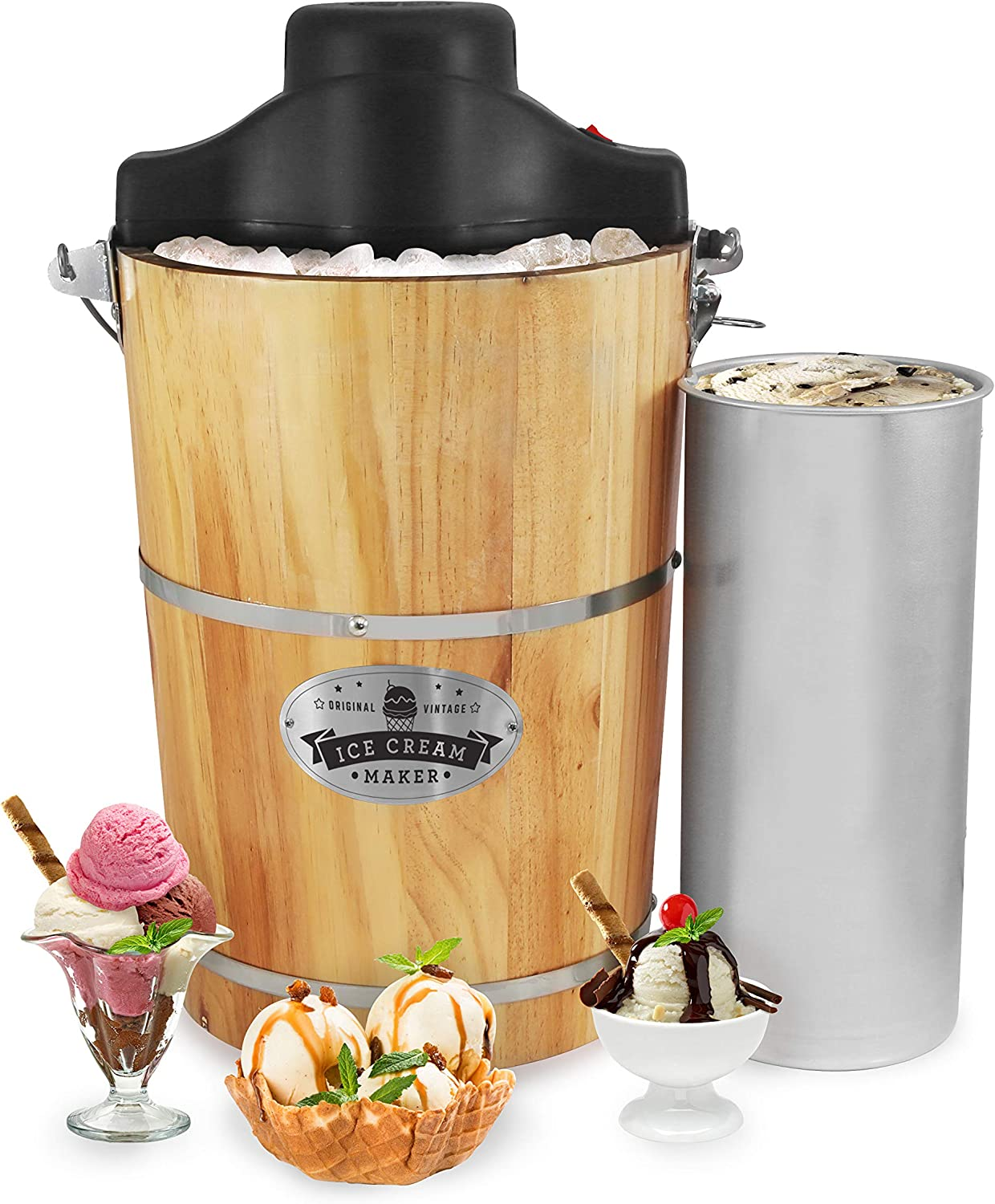 Elite Gourmet EIM916 Old Fashioned Ice Cream Maker