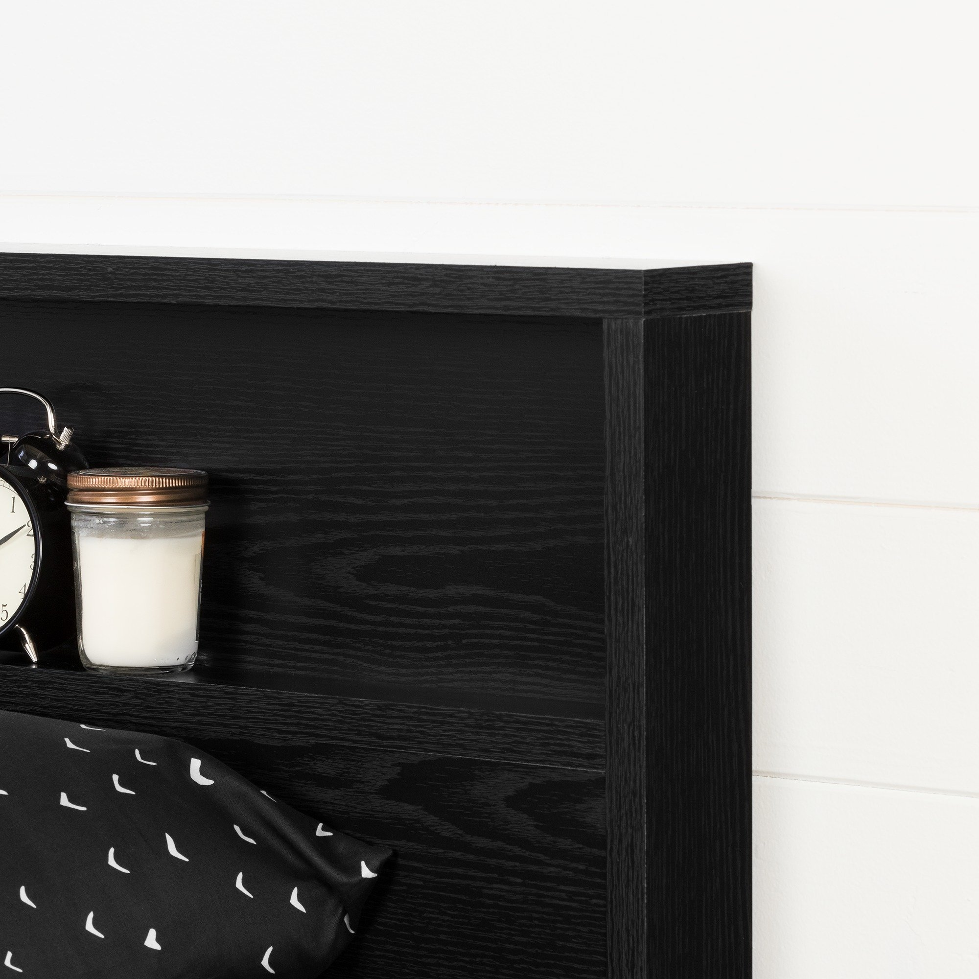 South Shore 11290 Holland Headboard (54/60''), Full/Queen, Black Oak by South Shore (Image #4)
