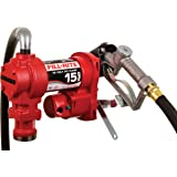 Fill-Rite FR1210H 12V 15 GPM Fuel Transfer Pump (Manual Nozzle, Discharge Hose, Suction Pipe)