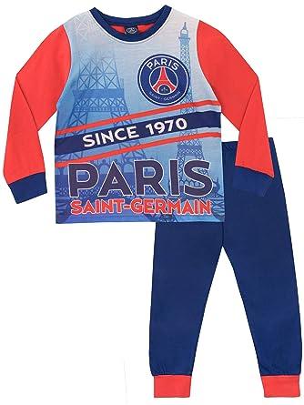 68f50158613fd Paris Saint-Germain FC - Ensemble De Pyjamas - Football Club - Garçon -  Multicolore