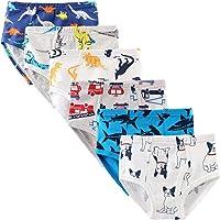 KEREDA Calzoncillos de algodón para niños de 2 a 8 años, 6 unidades, talla 98 a 140