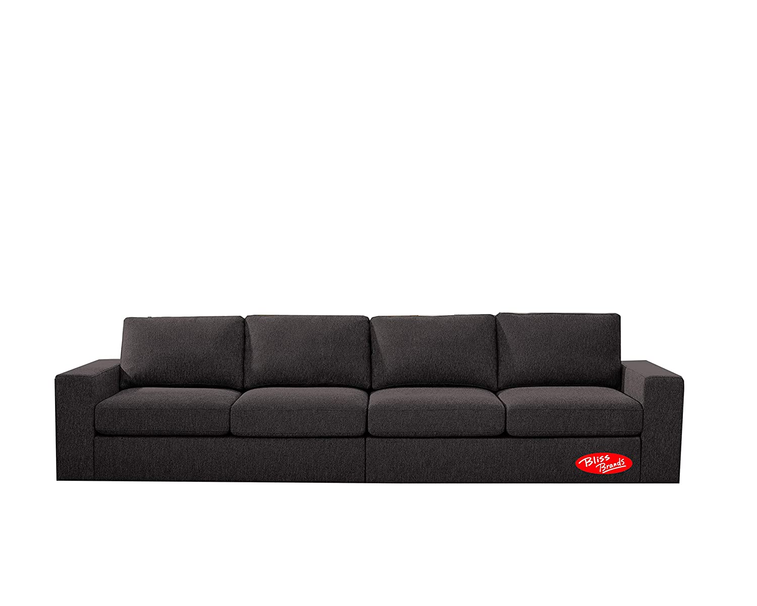 Amazon.com: Sectional Sofa, Easy-Assembly Linen Fabric ...