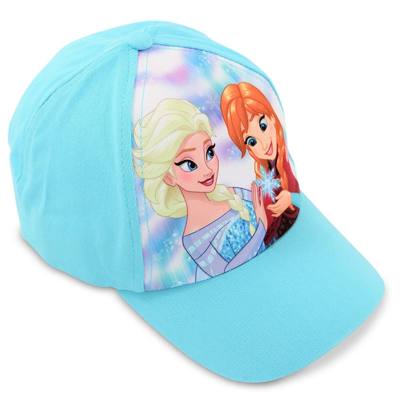 Amazon.com  Disney Little Girls Frozen Elsa and Anna Cotton Baseball ... 846abd17a88