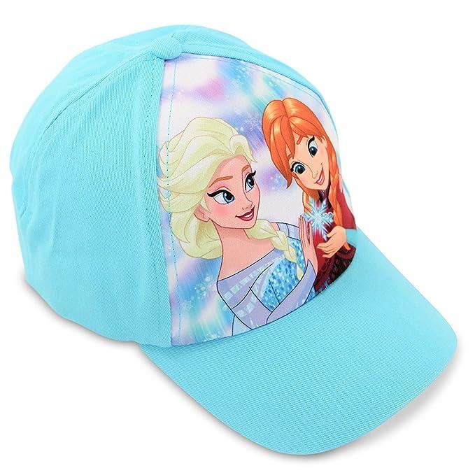 Amazon.com  Disney Little Girls Frozen Elsa and Anna Cotton Baseball ... 6f99cb07d63
