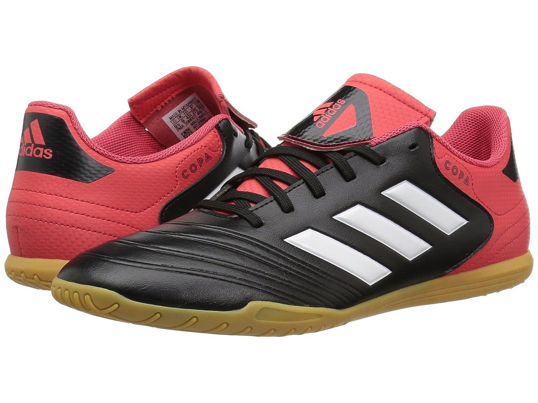 (アディダス) adidas メンズサッカーシューズ靴 Copa Tango 18.4 Indoor Black/White/Real Coral 12.5 (30.5cm) D Medium B07BQLHKGC