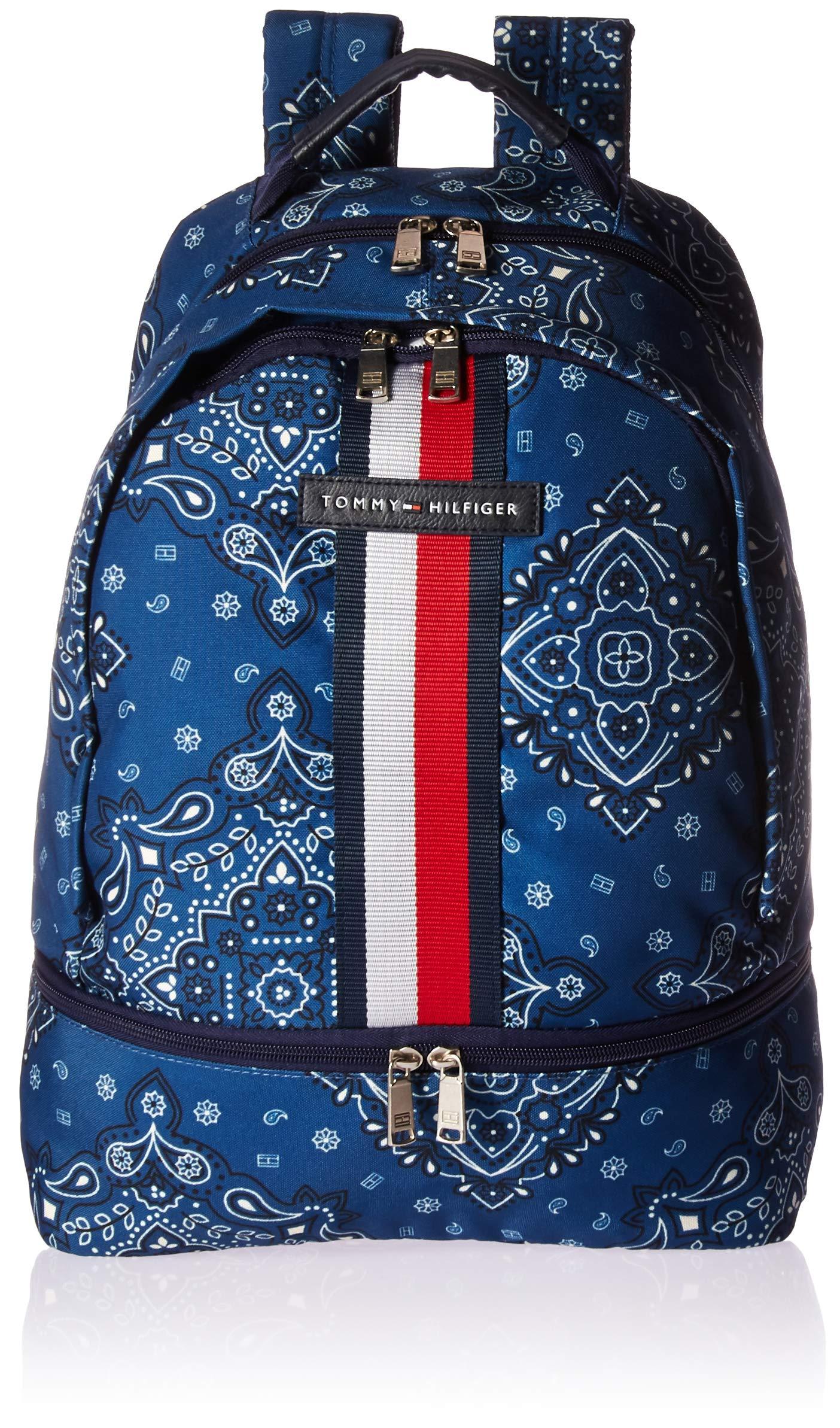 Tommy Hilfiger Women's American Bandana Backpack Blue One Size