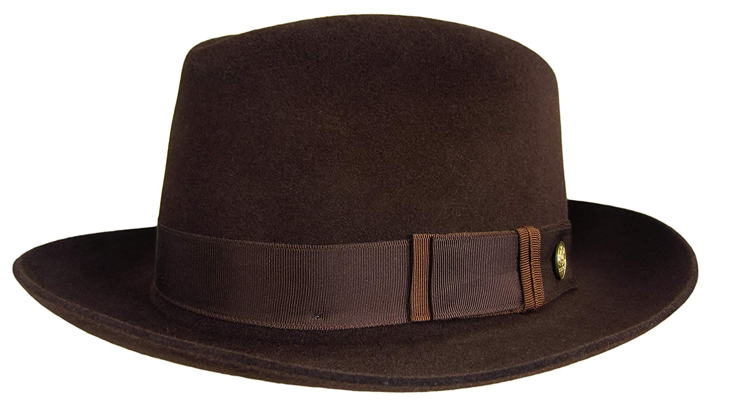 Stetson Lowell Fedora Chocolate Brown Size 7 1 4 R Oval 2 1 8