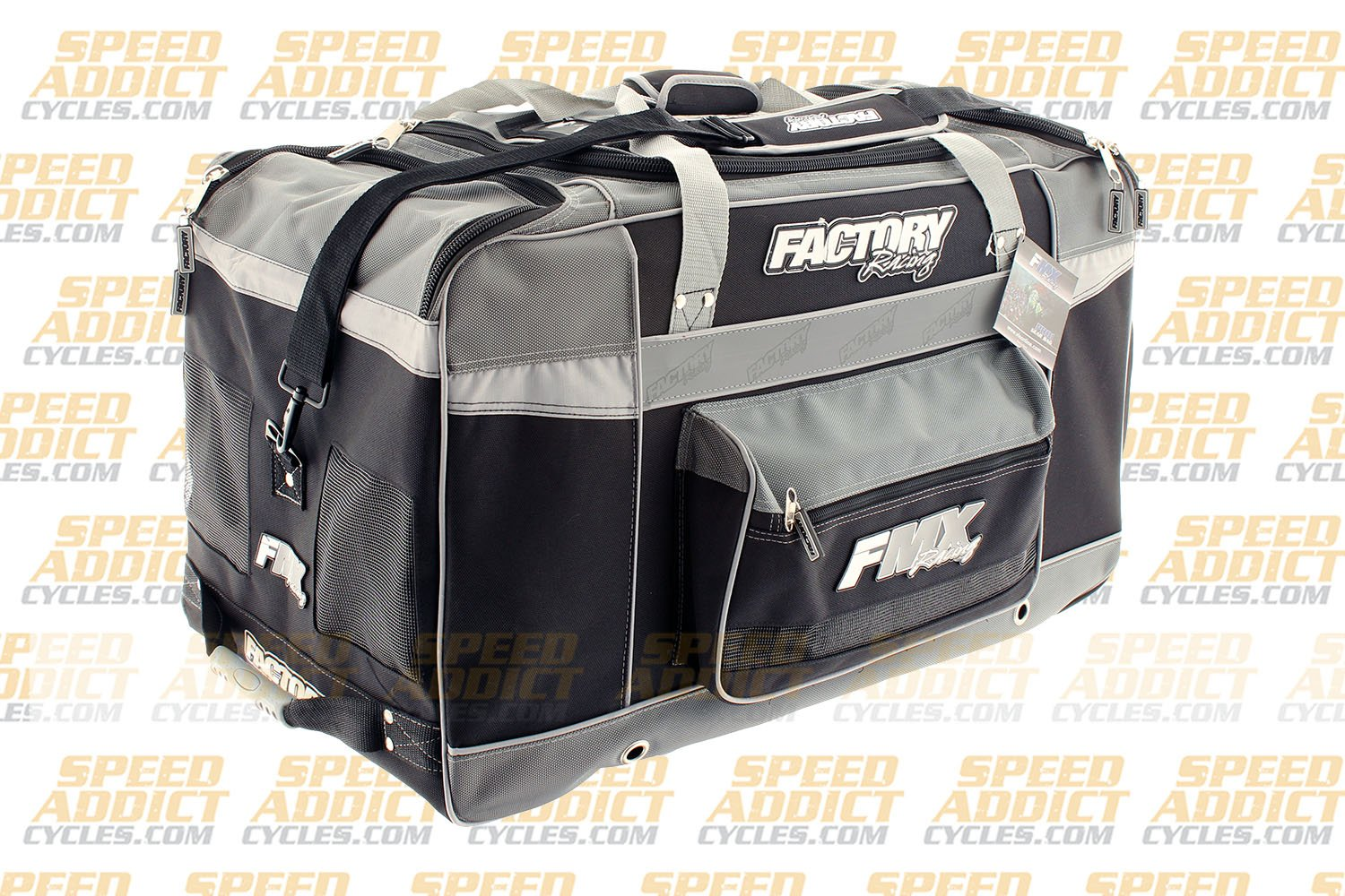 Factory FMX Motorcross Gear Bag XLarge Grey by Factory Racing (Image #3)