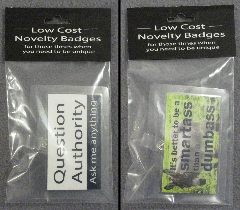 2PK combo BDG1 BDG2 Novelty Clip on Badges collectable funny joke item gag gift Low Cost Sales Online
