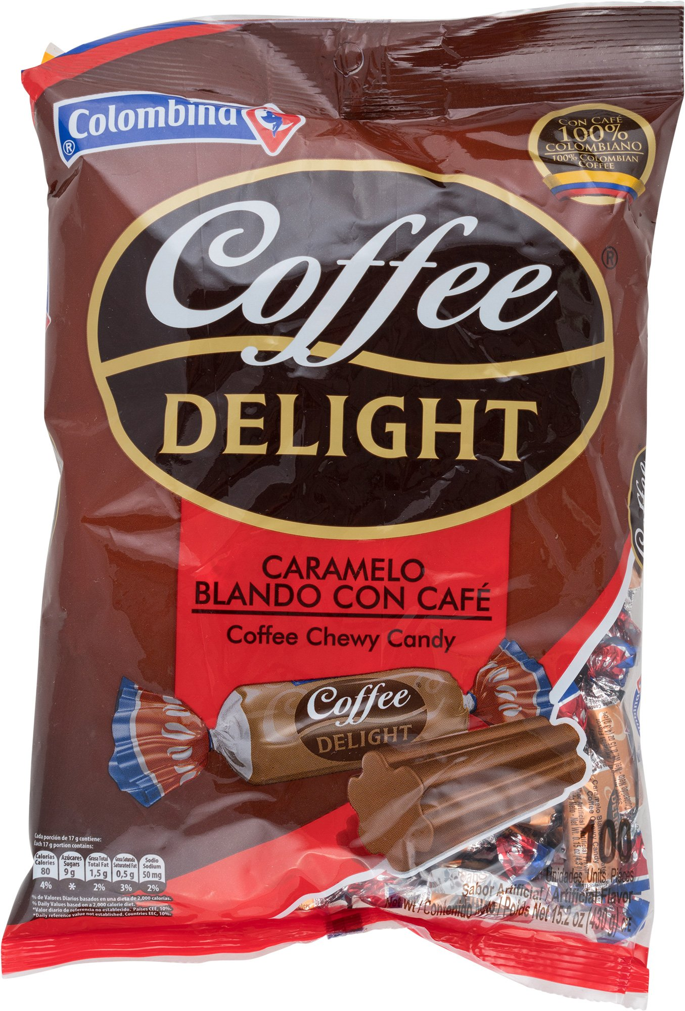 Colombina Coffee Delight 100% Colombian Coffee Soft Candy 100 Units