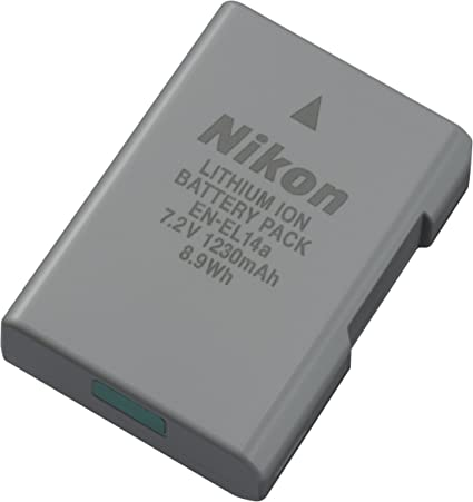 Nikon EN-EL14a Lithium-Ionen-rechargeable battery: Amazon.es ...