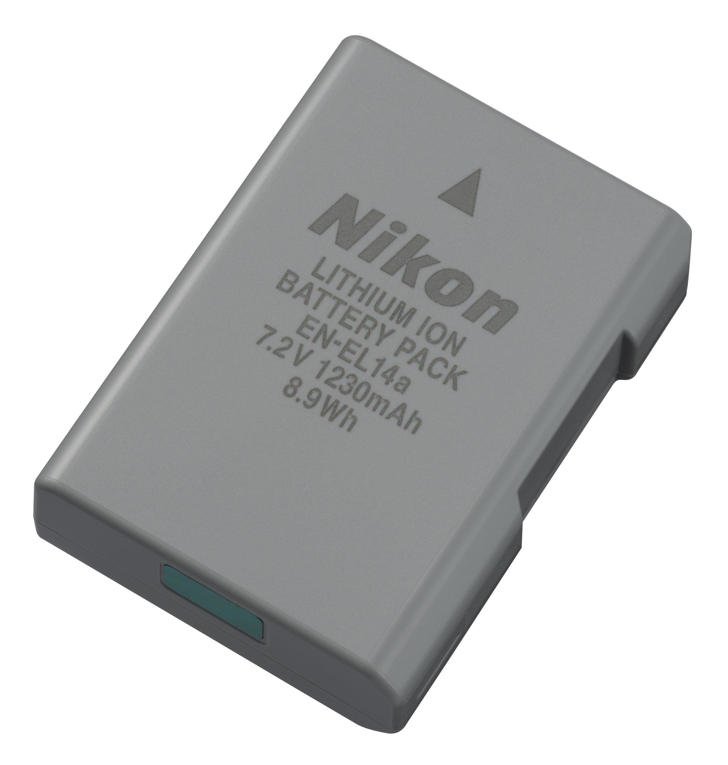 Nikon 27126 EN-EL 14A Rechargeable Li-Ion Battery (Grey) by Nikon