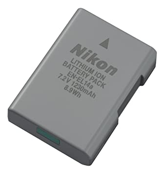 Nikon EN-EL14a Lithium-Ionen-rechargeable battery: Amazon.es ...