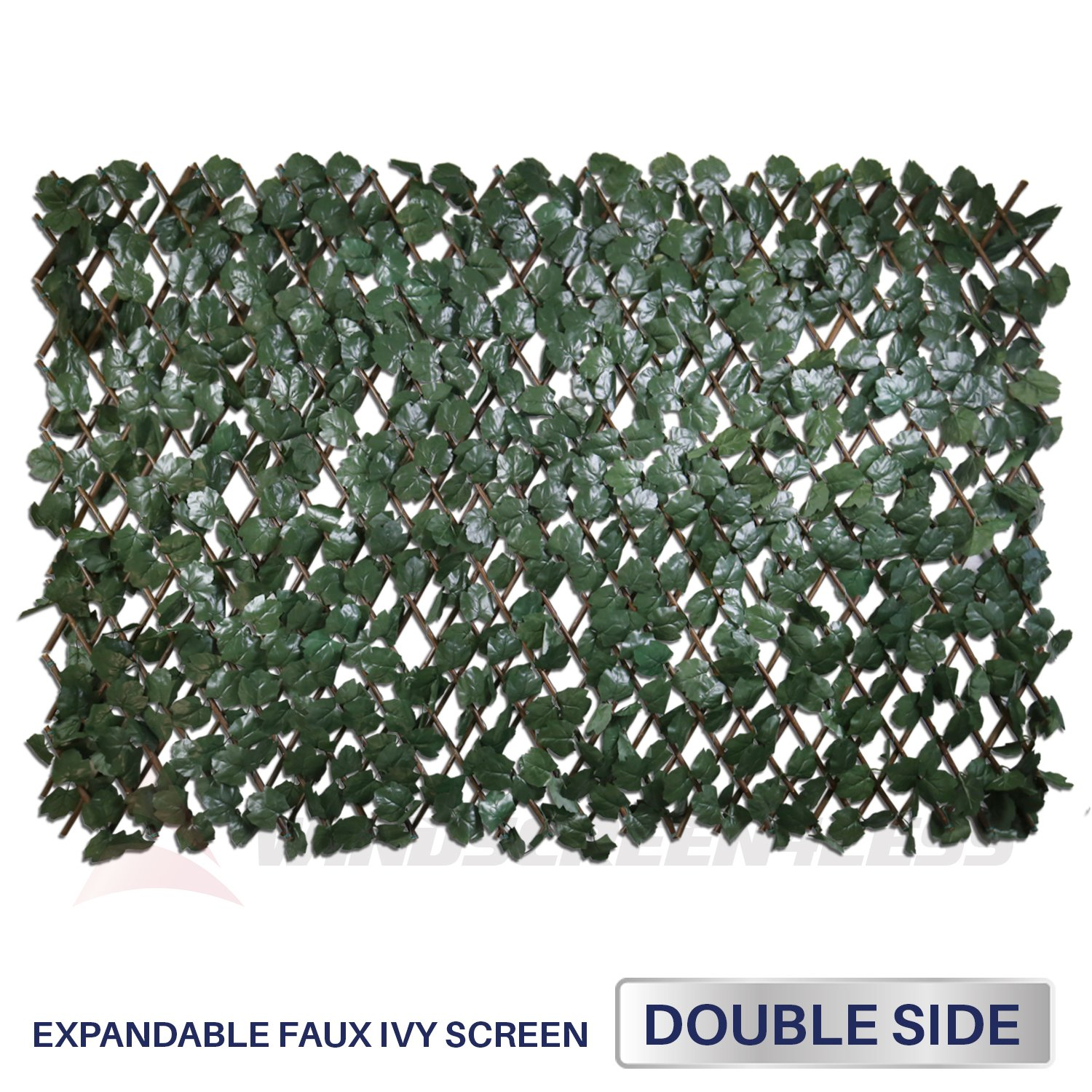 Windscreen4less IFDDSL Artificial Leaf Faux Ivy Expandable/Stretchable Privacy Fence Screen (Double Sided Leaves) Double Sides Leaves