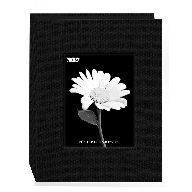 Pioneer Photo Albums 24 Pocket Fabric Frame Cover Photo Album, Deep Black DA-46CBF/DB