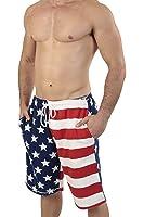 Patriotic American USA FLAG Lightweight Fleece Shorts