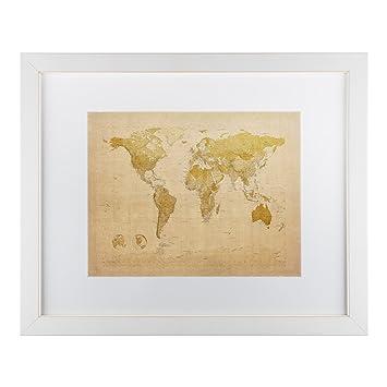 Amazoncom Antique World Map By Michael Tompsett White Matte