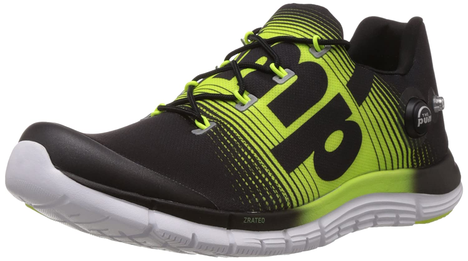 Reebok Men's Zpump Fusion Black, Solar Yellow and White Running Shoes - 6  UK: Buy Online at Low Prices in India - Amazon.in