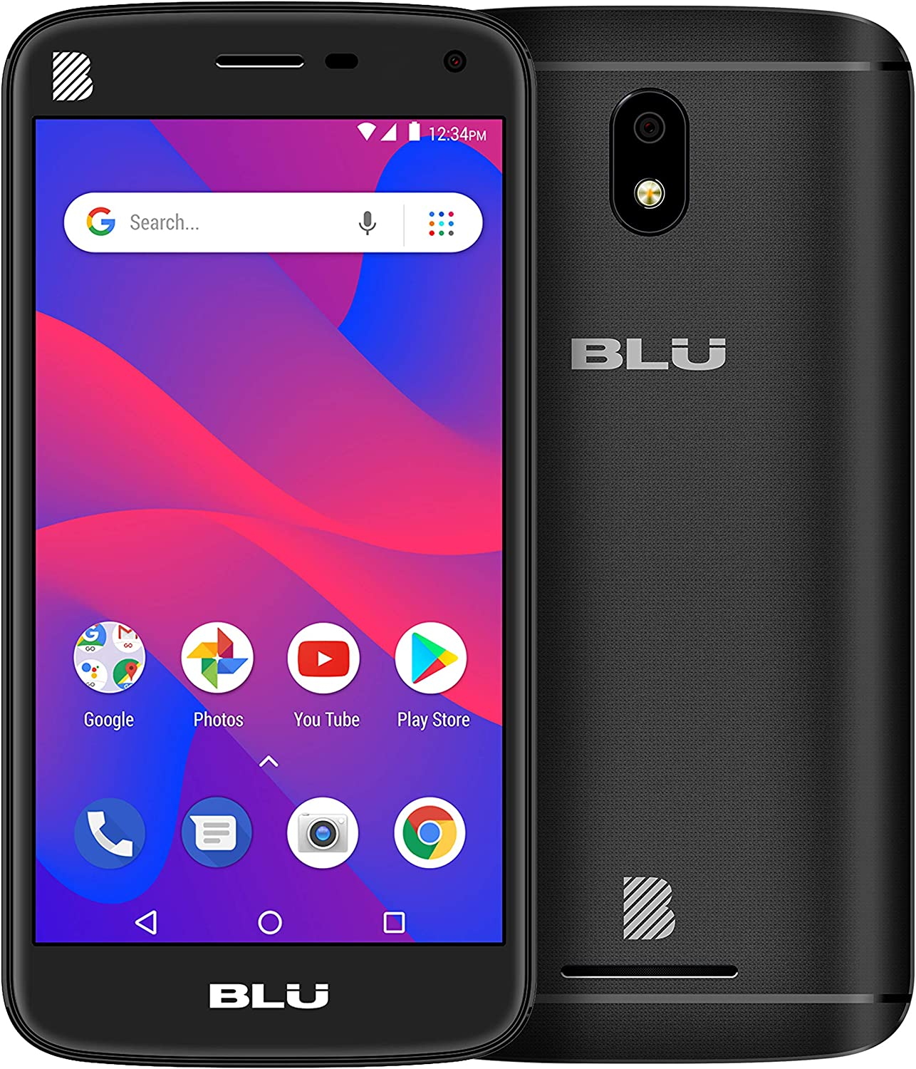 BLU Advance S50 -Unlocked LTE Smartphone, 16GB+1GB RAM -Black