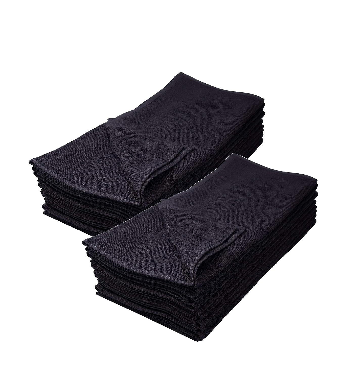 Color Negro Juego de 12 Toallas de Mano IC collection 100/% algod/ón