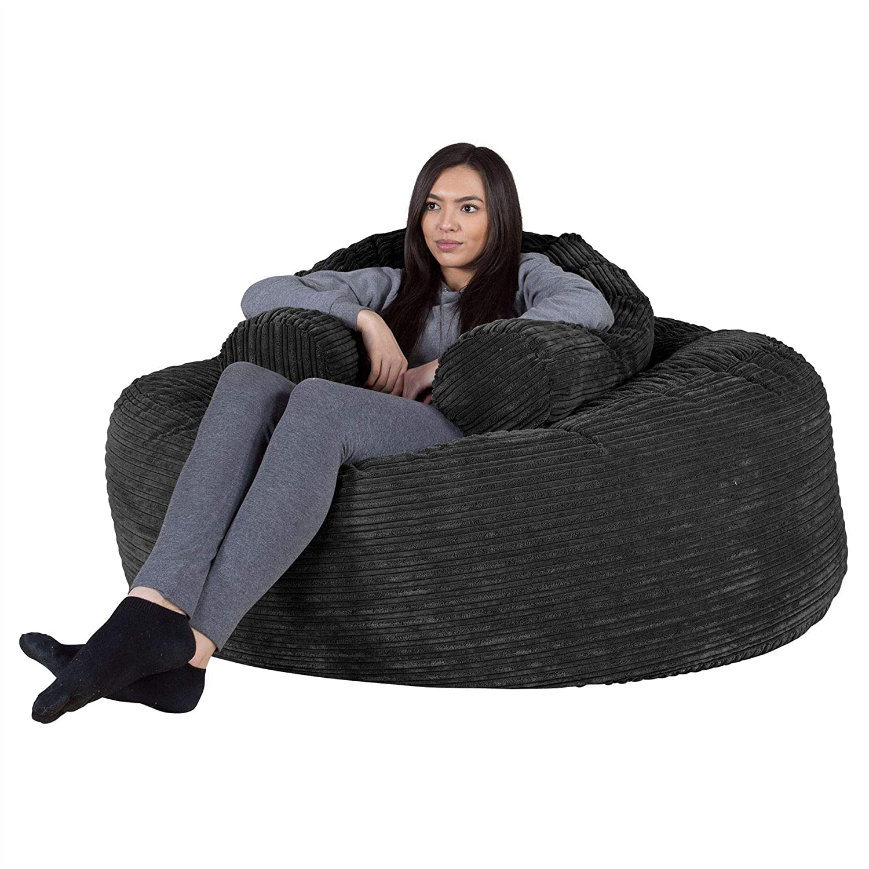 Lounge Pug®, Puff Gigante Sofá Mamut, Pana Clásica - Negro ...