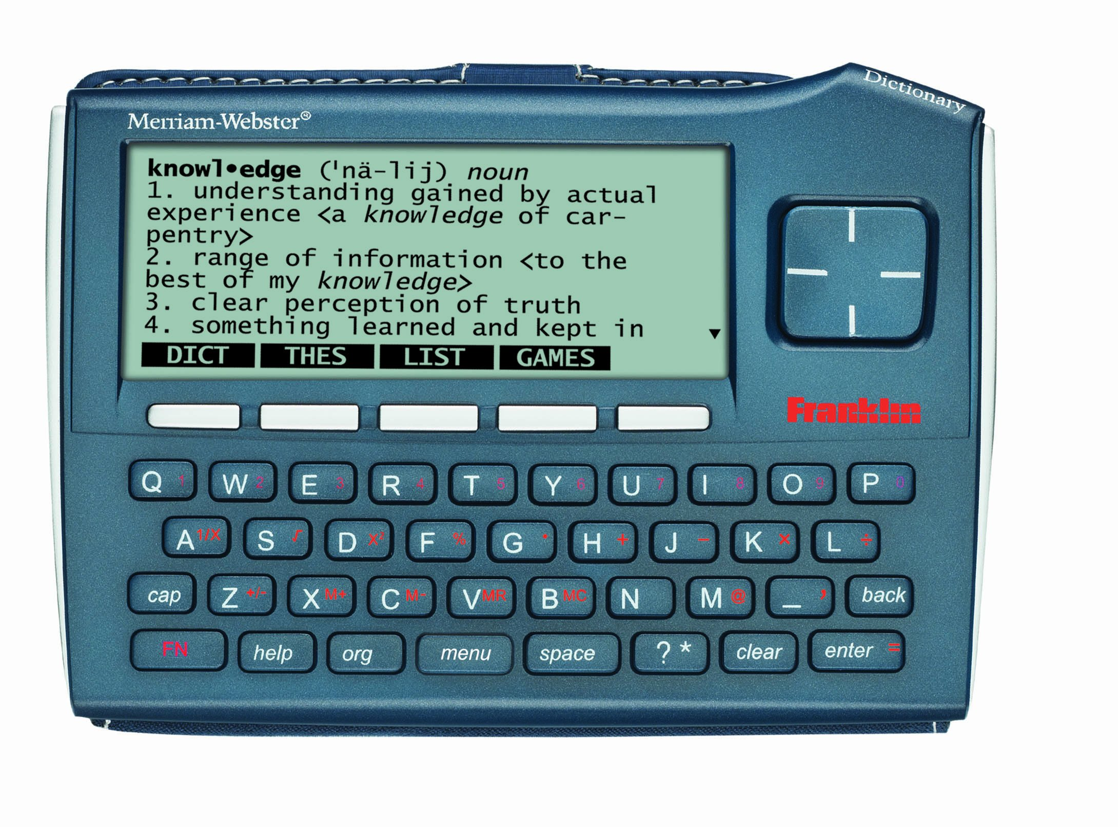 Franklin Electronics MWD-1510 Merriam-Webster Advanced Dictionary and Thesaurus with 5 Language Translator by Franklin