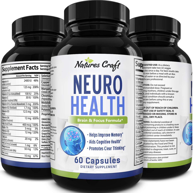 Best Brain Supplements 2020.Mind Enhancing Supplement Improve Memory Boost Brain Power Enhance Mental Clarity Pills With Best Top Natural Vitamins For Better Cognitive
